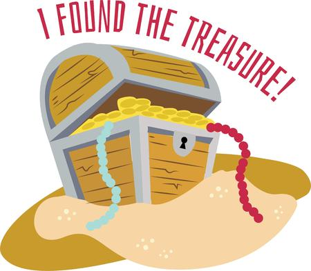 loot: Discover your buried treasure with this chest of gold.