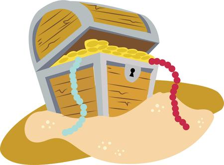 jewelry boxes: Discover your buried treasure with this chest of gold.