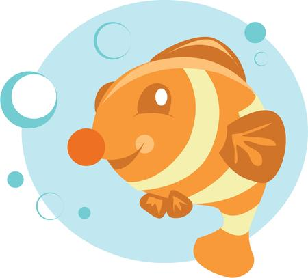 clownfish: A cute clownfish will make a colorful addition on a project.