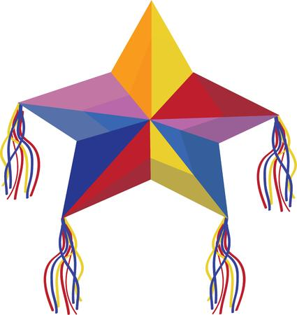 pinata: Use this pinata star for your fiesta napkins.
