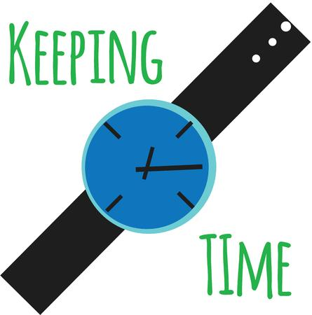 accessory: Use this accessory watch for your time project.