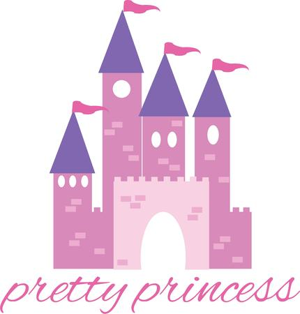 fairytale castle: A fairytale castle will be perfect for any little girl. Illustration