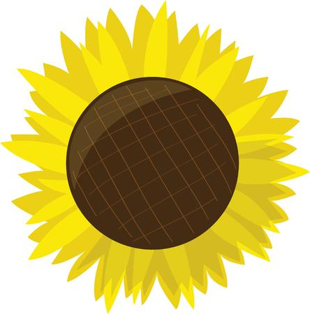 hanky: Use this sunflower on a hanky or napkin.