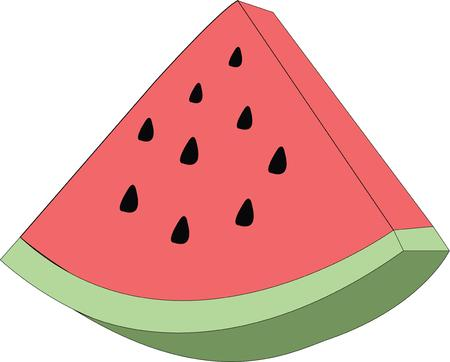 knows: When one has tasted watermelon he knows what the angels eat Illustration