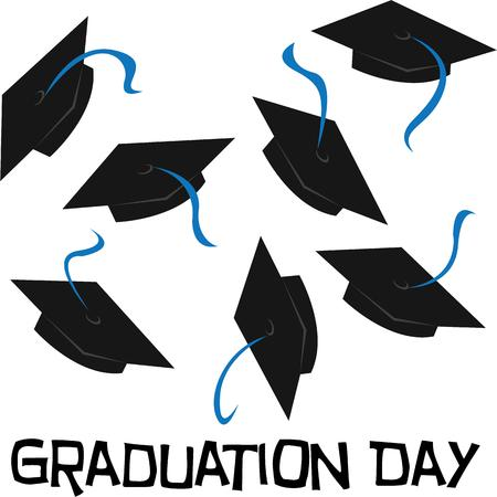 finally: Decorating your graduation cap or mortarboard has turned into a tradition for graduates.