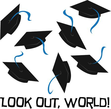 tassel: Decorating your graduation cap or mortarboard has turned into a tradition for graduates.