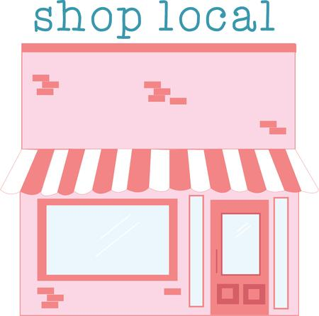 plaza: Use this storefront for your business. Illustration