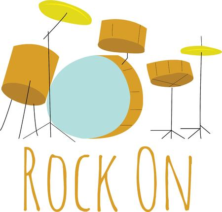 rollers: Rock and rollers will love a drum set.