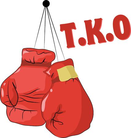 metaphorical: Any fighter whether physical or metaphorical will identify with these boxing gloves. Illustration