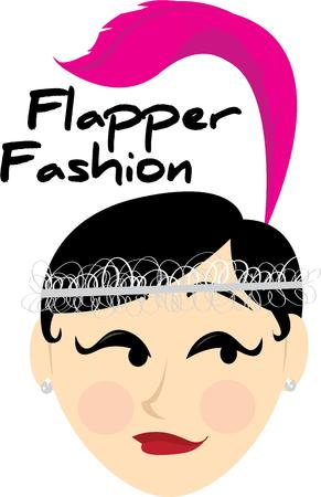 deviant: The flapper girl was a social deviant not only did their fashion sense forsake old morals Illustration