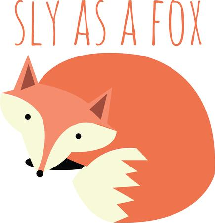 himself: The fox never found a better messenger than himself. Illustration