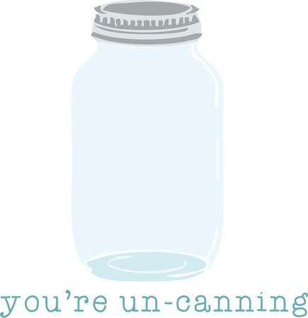 canning: Home cooks will enjoy a canning jar for a kitchen project. Illustration