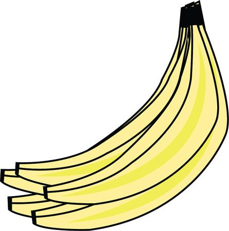 weegbree: Mooie tros bananen zal mooi uit in iedere keuken.