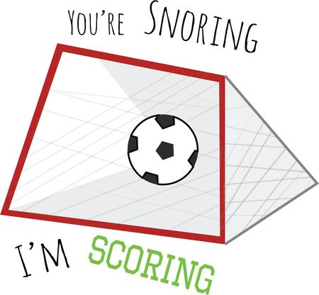 soccer goal: Use this soccer goal for your favorite player.