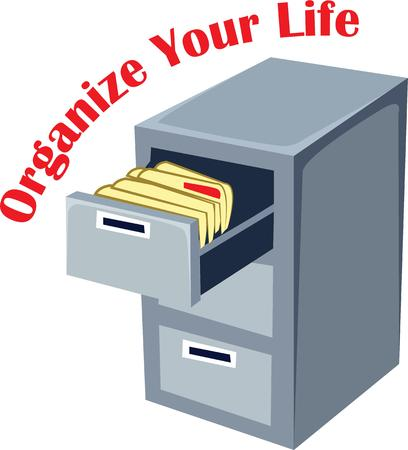 office cabinet: Show off your office skills with a filing cabinet.