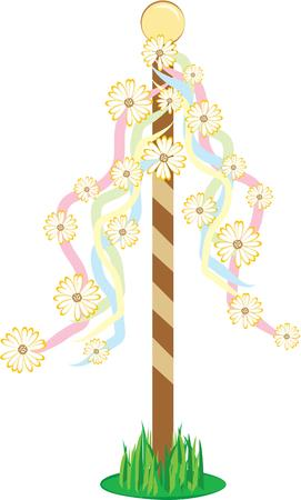maypole: Celebrate your festive spring with this maypole design.