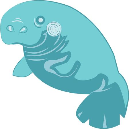 manatee: Show your love and support for the mighty manatee with this design.