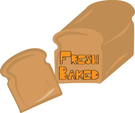 yeast: food made of flour water and yeast mixed together and baked. Illustration