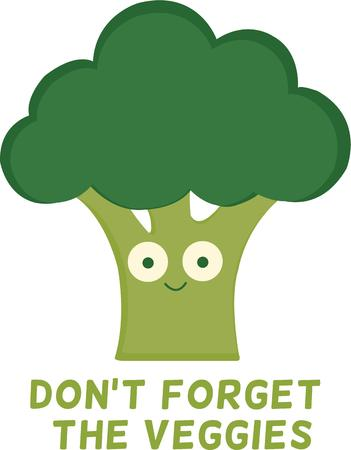 be: Be healthy by having broccoli. Pick those design by Windmill.