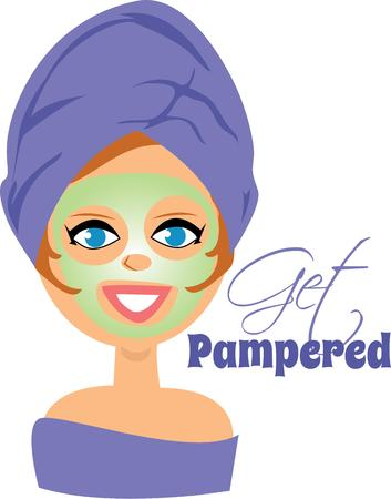 pampered: Use this lady for your cosmetologist. Illustration