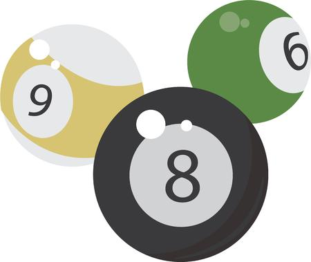 pratice: Play with 8 ball base to entertainment.Pcik those design by Windmill.  Illustration