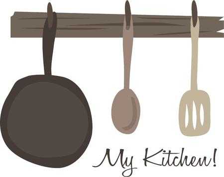 flipper: Use this kitchen design for your eatery project. Illustration