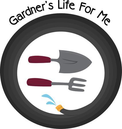 garden hoses: Your gardening aunt will enjoy this gardening design.