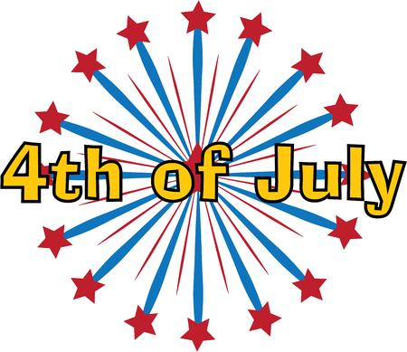 fireworks show: Kiss is a Fourth of July fireworks show with a backbeat. Illustration
