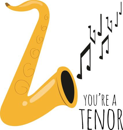 tenor: use this saxophone design for your new project