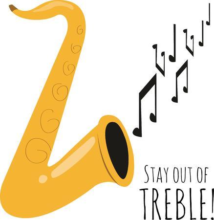 tenore: utilizzare questo disegno sassofono per il nuovo progetto Vettoriali