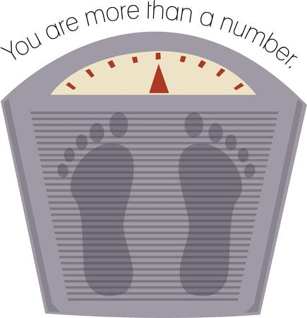 helps: this scale helps to maintain your body Illustration