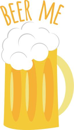 invented: He was a wise man who invented beer. Illustration