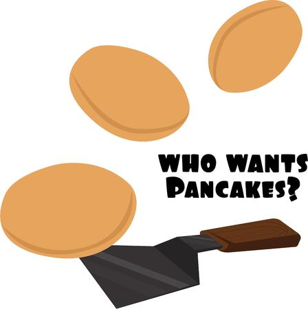 neatness: Make Hot and tasty Pancakes with this Spatula. Illustration