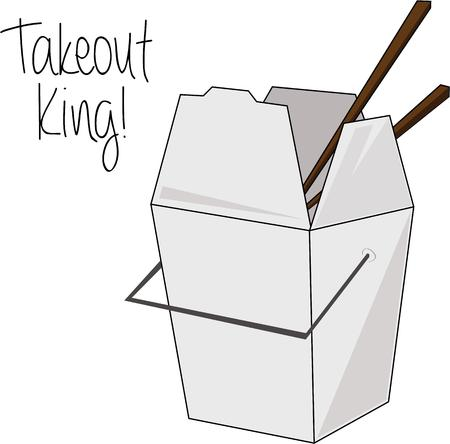 take out: Chinese take out is best served in the traditional box.  Chopsticks included at no additional cost
