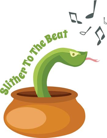 slither: Play music and make Sanke move and dance
