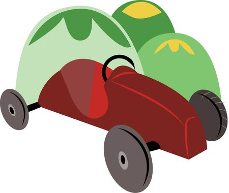 outdoor event: Best outdoor activity to have fun at the Soapbox derby event with your family and friends. Illustration