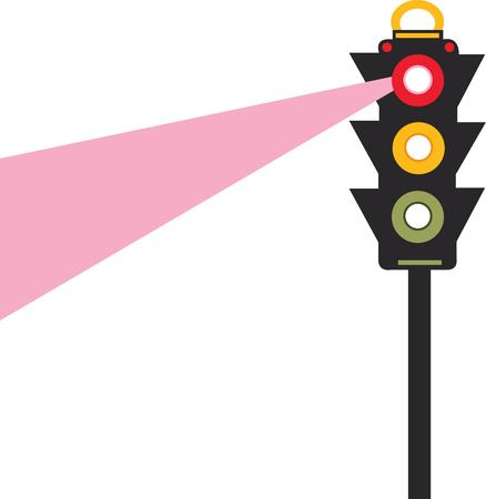 lozenge: follow the lights save your life Illustration