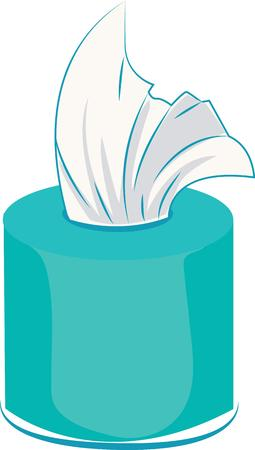 wipe: use tissues to wipe your makeup Illustration