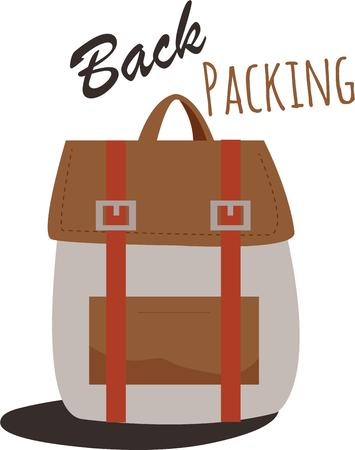 heading: If you think about America it is about getting your backpack on and heading out. Illustration