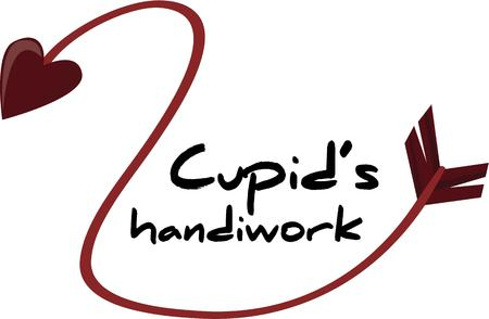 handiwork: Love is in the air when cupids arrow strikes right