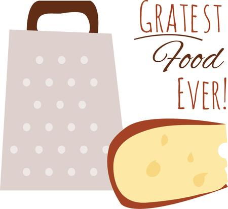 grater: This cheese grater for your kitchen linens. Illustration