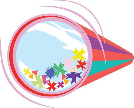 tetraedro: Concedetevi con questa decorazione colorata, festosa e divertente su progetti speciali occasione! Vettoriali