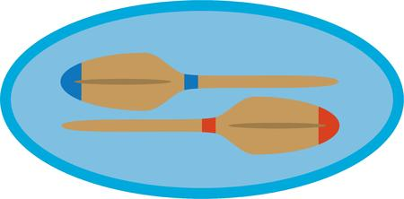 have fun: Boaters will have fun with some boat paddles. Illustration