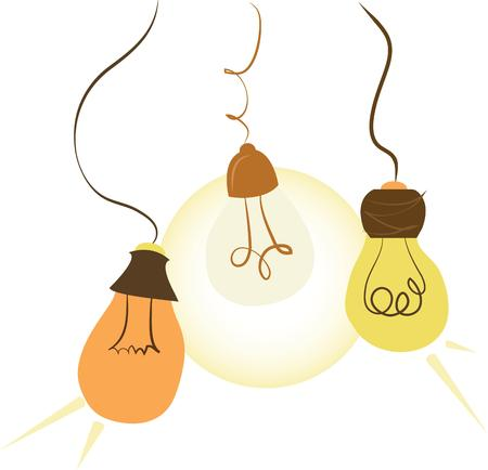snazzy: Use these colorful light bulbs for a snazzy decorative effect Illustration