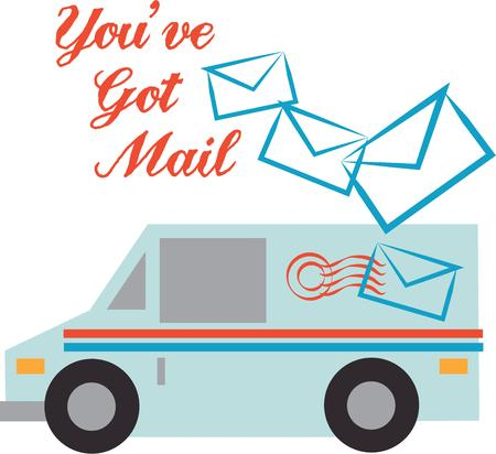 mailman: Looking for the perfect Birthday or Christmas gift Embroider this design on clothes, towels, pillows, gym bags, quilts, t-shirts, jackets or wall hangings for your mailman!