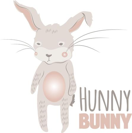 coney: Use this raggedy bunny for your Easter project.