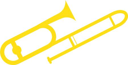 trombone: Strike up the band with a trombone. Illustration