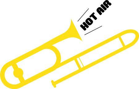 trombon: Entablar la banda con un tromb�n.