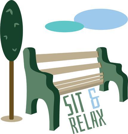 banco parque: Utilice este banco del parque para relajarse en una perezosa tarde de domingo.