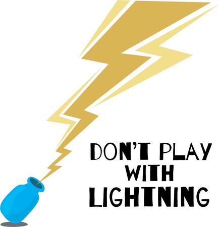 lightening: Lightening bottle base for your kids science experiment.